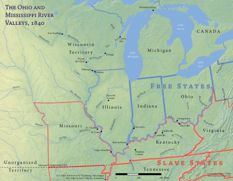 Ohio and Mississippi River Valleys, 1840
