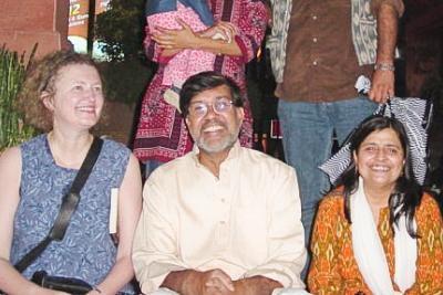Lea VanderVelde, Kailash Satyarthi, Mrs. Satyarthi