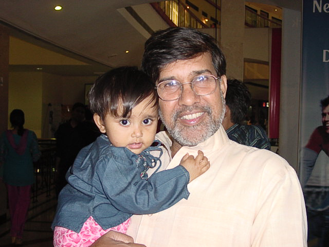 Kailash Satyarthi and Baby Girl